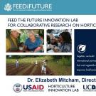 """FEED THE FUTURE INNOVATION LAB FOR COLLABORATIVE RESEARCH ON HORTICULTURE"" title slide"