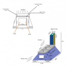 Technical illustrations of mixed modes solar dryer design