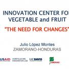 """The need for changes, Julio López Montes"" title slide"