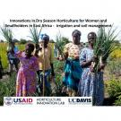 "Women farmers with onions - ""Innovations in dry season horticulture for women and smallholders in East Africa - irrigation and soil management"" title slide"