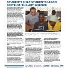 fact sheet- Trellis students help students learn state-of-the-art science