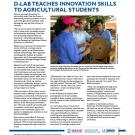 fact sheet- D-Lab teaches innovation skills to agricultural students