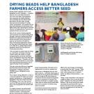 fact sheet - Drying beads help Bangladesh farmers access better seed