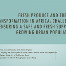 Fresh produce and the diet transformation in Africa - title slide