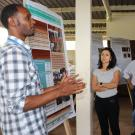 Agriculture researcher discusses technology testing at postharvest training center in Mulindi, Rwanda