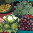 fruits and vegetables display at market